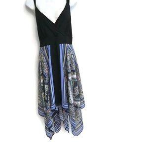 Avenue Dress Plus Size 18/20 Handerchief Hem Black